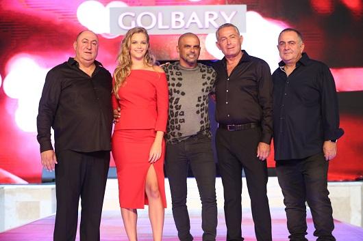 מימין דוד ויעקב גולברי עם אייל גולן אסתי גינזבורג ומשה גולברי