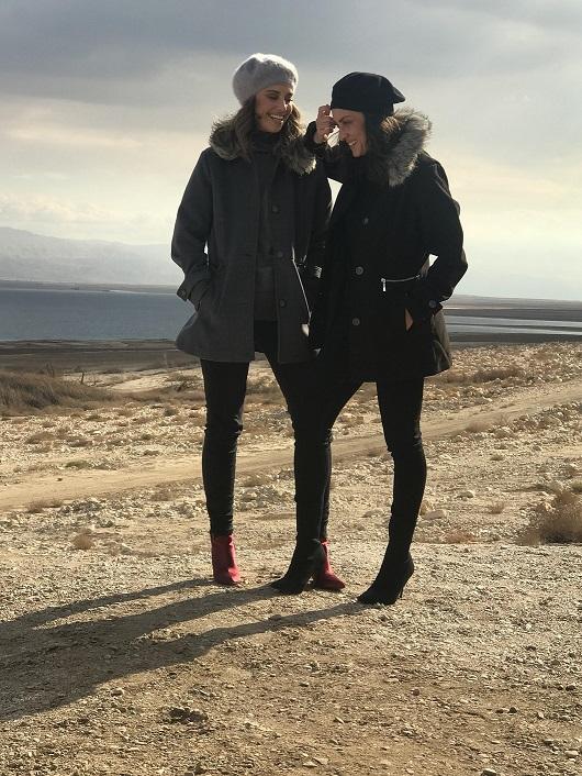 """אנה ארונוב ודנה גרוצקי בצילומים למותג האופנה ג'אמפ צילום : יח""""צ"""