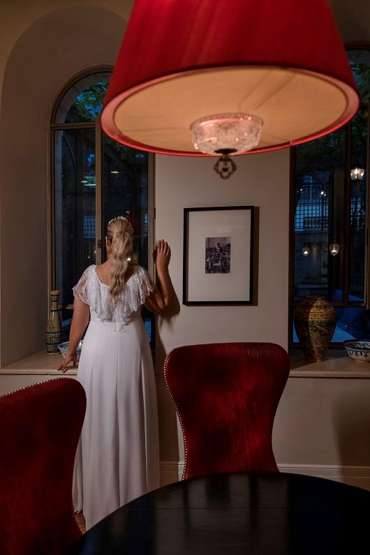 לירז אסייג בקמפיין לשמלות הכלה של מירב מויאל צילום יניר סלע