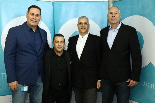 השותפים החדשים של גיא גודס מימין חן אברמוביץ, דוקטור אלי מזרחי, אלעד גרג