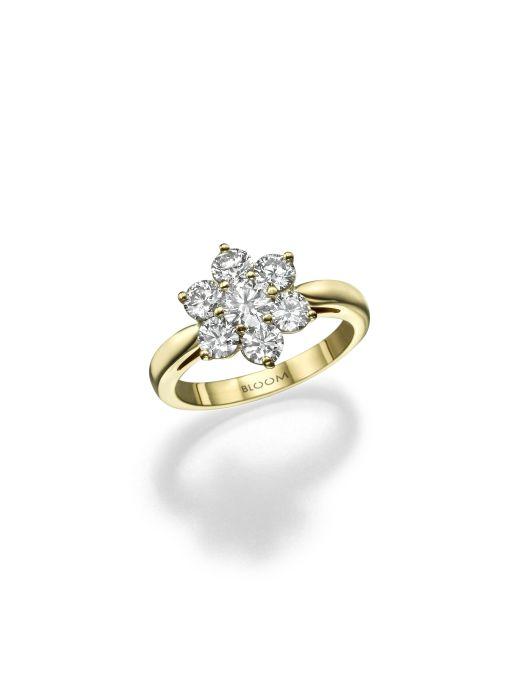 טבעת זהב ויהלומים, 13570 שח, להשיג ב- BLOOM תכשיטי יוקרה שוהם 6 רמת גן, יחצ