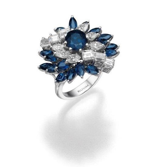 טבעת יהלומים ואבני חן, מבית BLOOM ו- CITIZEN, 28000 שח, להשיג ב- BLOOM תכשיטי יוקרה שוהם 6, רמת גן, יחצ