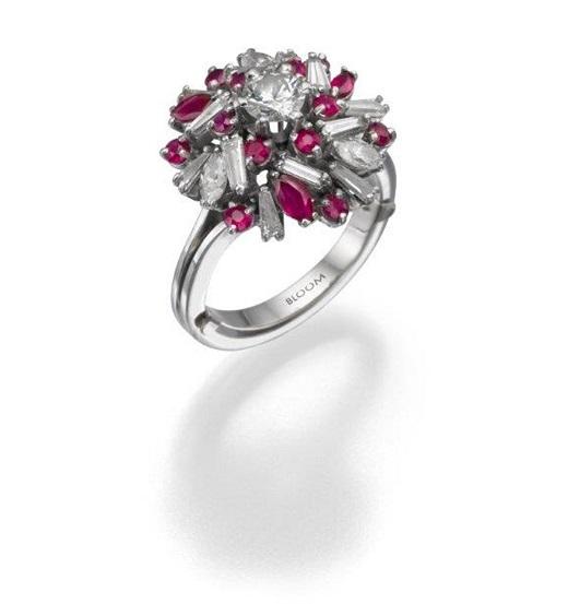 טבעת יהלומים ואבני חן, מבית BLOOM ו- CITIZEN, 18000 שח, להשיג ב- BLOOM תכשיטי יוקרה שוהם 6, רמת גן, יחצ