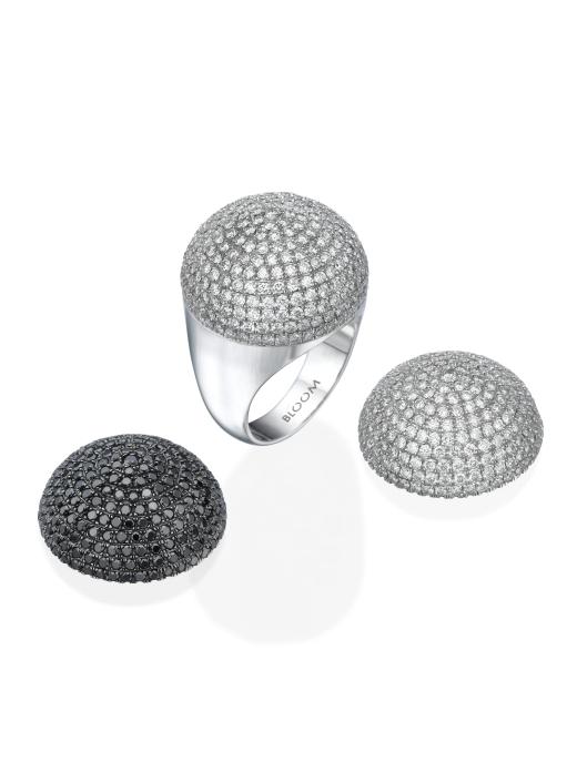 טבעת יהלומים מודולרית עם ראש יהלומים מתחלף, מחיר החל מ-12,000 שח ובהתאם לשיבוץ, להשיג ב- BLOOM תכשיטי יוקרה צלם יחצ