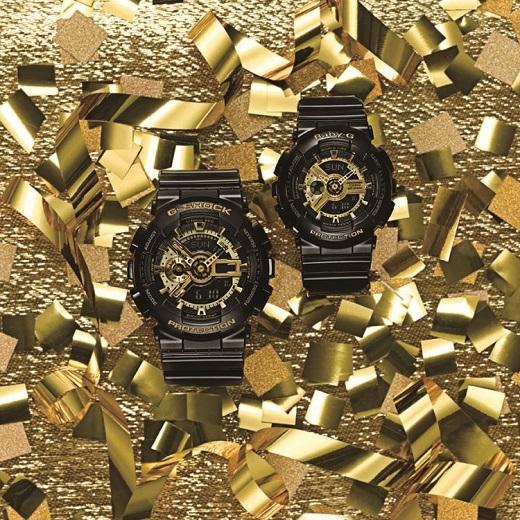 שעון ג'י-שוק דגם GA-110GB  - מחיר 933 ₪ ; שעון בייבי-ג'י דגם BA-110 - מחיר 789 ₪