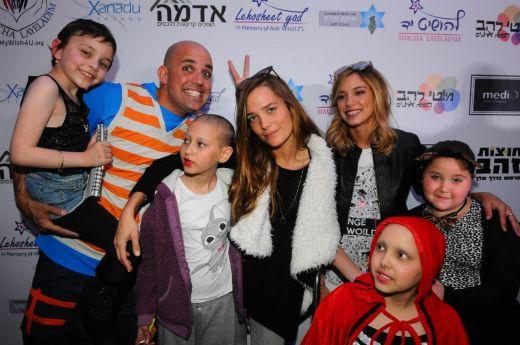 מסיבת פורים שהתקיימה למאות ילדים חולי סרטן צילום: ברק פכטר