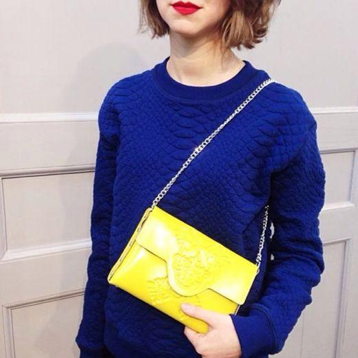 מתחם האופנה בדיוטי פרי- תיק מיני קלאץ מבית מדוזה- 75 דולר- צילום עומר מסינגר