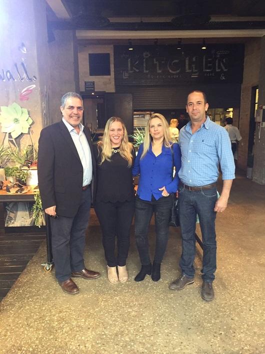 --מימין לשמאל- דן איתמר, סיגל כספי, יעל לוי מנהלת השיווק ושלמה בוקילה צילום אסף לוי