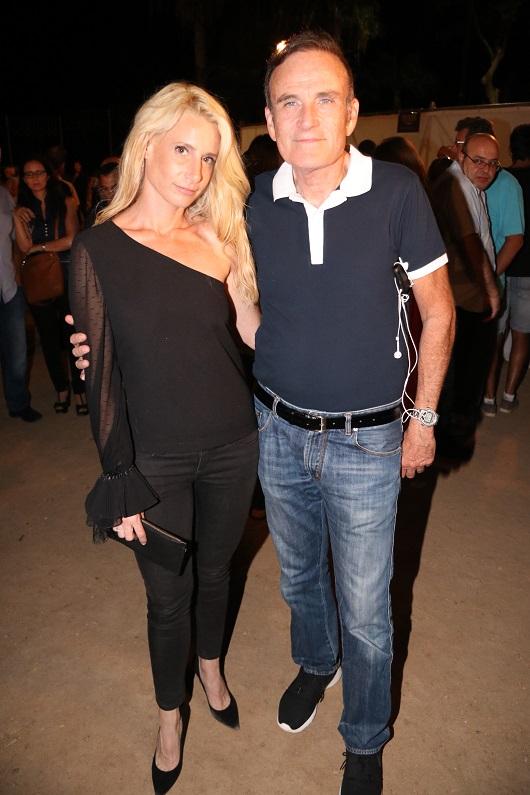 עמוס שפירא עם הבת זוג חלי לוי צילום ניר פקין