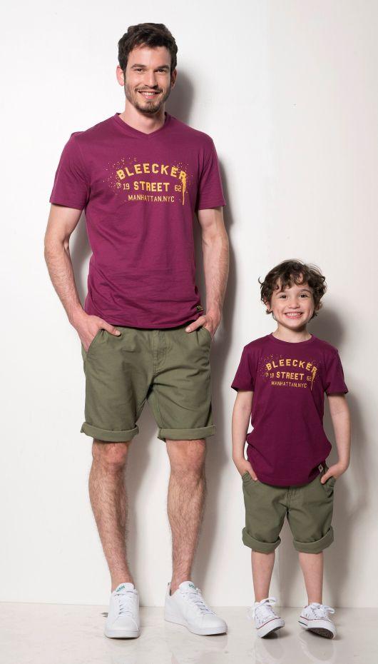 H&O גבר - חולצה מחיר 39.90 שח מכנס מחיר 59.90 שח ילד - חולצת טי דפוס 52301000 מחיר 29.90 שח ברמודה 49.90 שח צילום עידו לביא