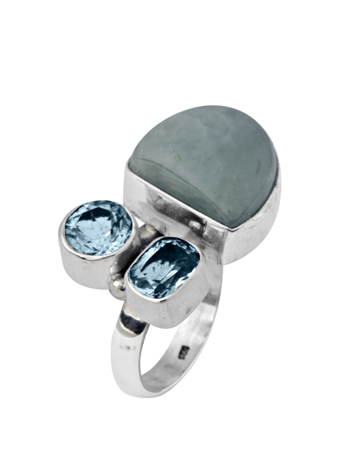 טבעת כסף בשיבוץ אבני חן, 565 שח, להשיג בעדיים מכל הלב צלם יוסי גמזו-לטובה