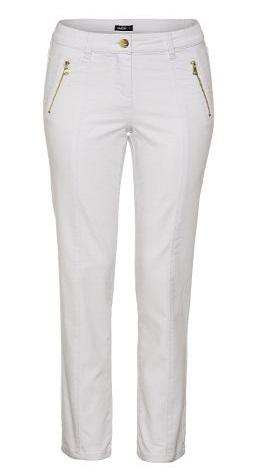 JUMP מכנסיים לבנים רוכסן זהב צילום אודי דגן _189.90