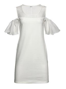 JUMP שמלה לבנה כתפיים חשופות 99.90 צילום אודי דגן