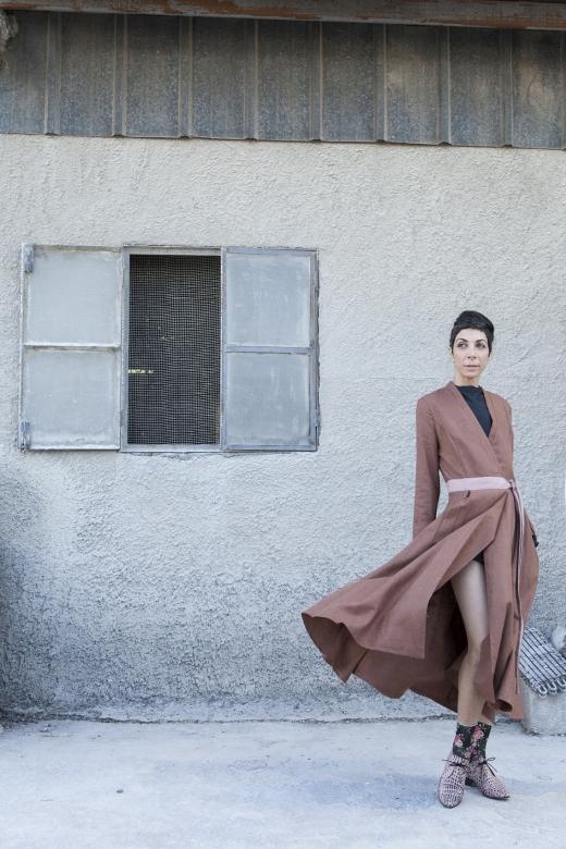 מיזו שמלת מעיל ורוד 889 שח צילום רוני כנעני