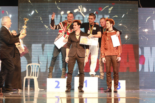אליפות ישראל בעיצוב שיער, איפור ובניית ציפורניים 2012. צילום: רפאל בן דור