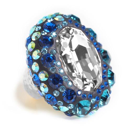 טבעת עצמאות בגווני כחול-לבן עם 65