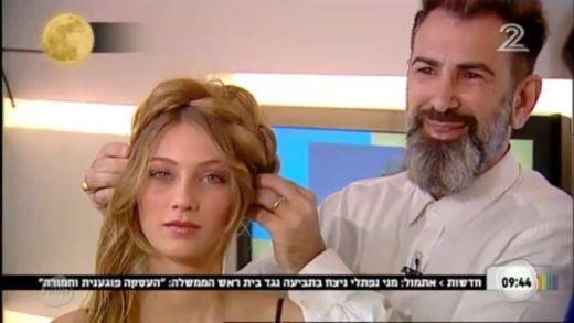 אמיר אליהו תסרוקות צמות בטלויזיה