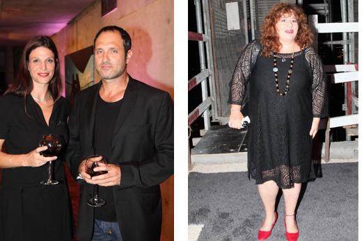 אסתי זקהיים, אפרת רייטן ובעלה האדריכל גל מרום. צילום: סיון פרג