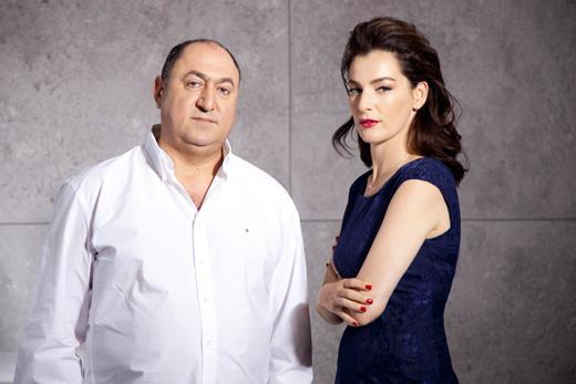 איילת זורר ומשה גולברי בצילומי קמפיין חורף 2013. צילום: דודי חסון