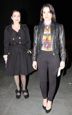 נסלי ברדה ואניה בוקשטיין. צילום: ענת מוסברג.