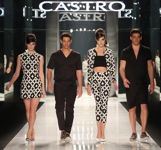 קסטרו - תצוגת אופנה קולקציית אביב קיץ 2013.