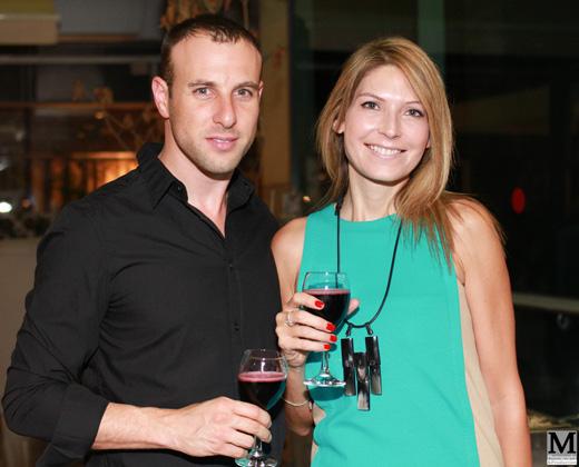 דפנה שחר ובעלה הטרי יובל צלנר בהשקה ראשונה. צילום: משה רון אילון סטודיו