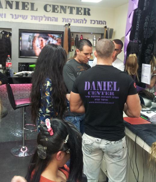 קורס הדמיית שיער אצל דניאל סנטר