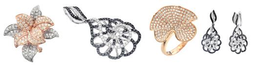 אימפרס בקולקציית תכשיטים פרחונית. צילום: צפריר קאשי