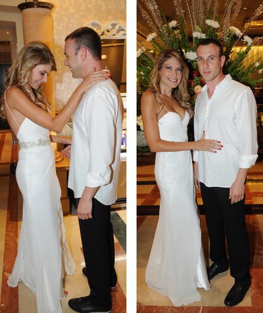 לא רק מעושרת - החתונה של דפנה שחר ויובל צלנר. צילום: ברק פכטר.