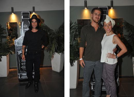 אור אקרמן הבן של אסתי אקרמן עם בלוגרית האופנה מיכל פורטמן וארז דה דרזנר. צילום:  בן יוסטר