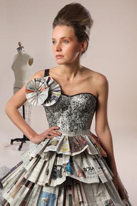 תערוכת נייר-אופנה של שנקר מגיעה לקריון. צילום: תמי דהן
