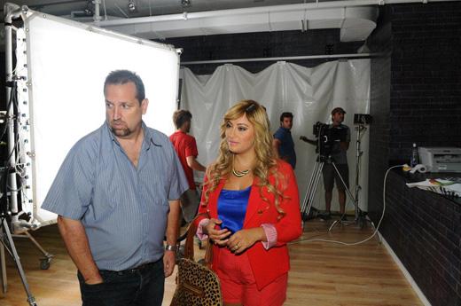 ליהיא גרינר ואמיר זהבי בקמפיין לקניון הזהב. צילום: ברק פכטר