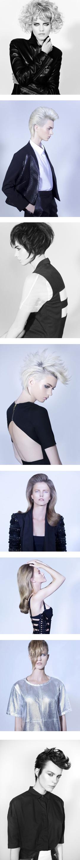 שחר מלכה - קולקציית מראות שיער 2012. צילום: גיא כושי ויריב פיין