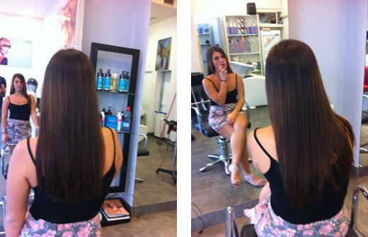 החלקת שיער אצל מעצב השיער מתל אביב מריו לוי