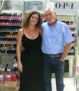 בראיין ליידן ואיילה עובד - השקת סניף נייל סטודיו חיפה. צילום: נייל סטודיו.