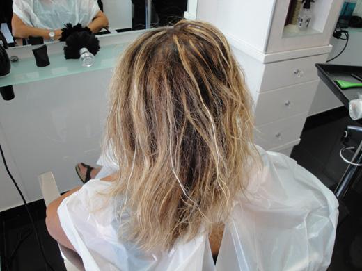 לפני שיקום שיער אצל רחל ונועם