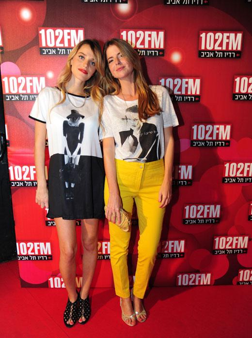 """רותם סלע ולירון ויצמן חוזרות לרדיו ת""""א 102FM. צילום: אבישי אקהויז"""