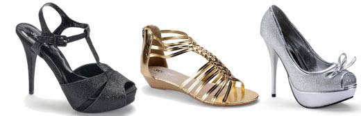 SCOOP בקולקציית נעליים בהשראת הטרנד המטאלי. צילום: אפרת אשל