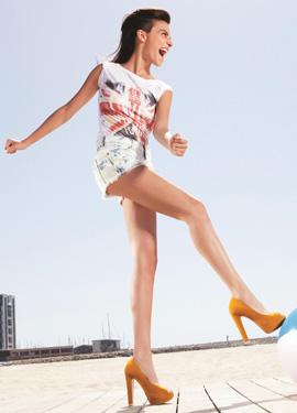 נעלי פלטפורמה צבעוניות - נעלי SCOOP. צילום: שי יחזקאל.