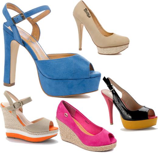 נעלי פלטפורמה צבעוניות - נעלי SCOOP.