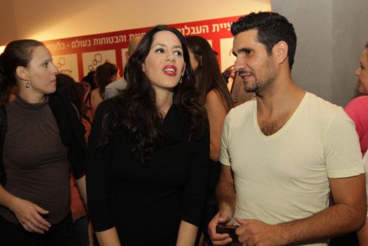 שלומי קוריאט ואיגי וקסמן באירוע שילב להשקת בקבוקי אוונט. צילום: רפי דלויה