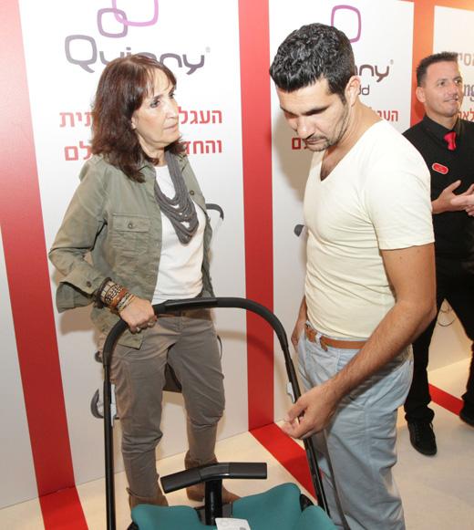 שלומי קוריאט עם ענת לוין מנכלית שילב. צילום: קפי דלויה