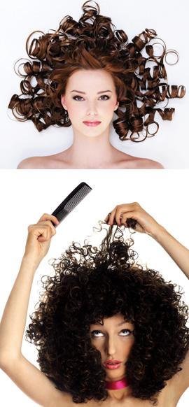 שיער מתולתל בקיץ