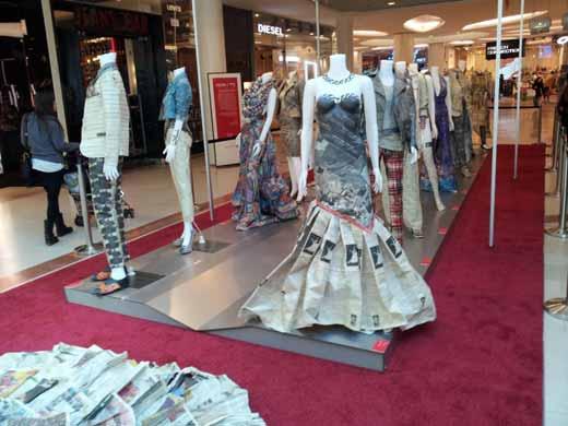 שמלת כלה מנייר עיתון. צילום: טוקן סטודיו לעיצוב
