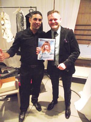 """Gary France ומנכ""""ל פורטל היופי בראש ומגזין הדליין"""
