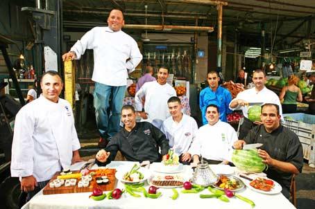 כ- 10 שפים מכל רחבי הארץ וממיטב המסעדות הכשרות התייצבו בלב שוק הכרמל