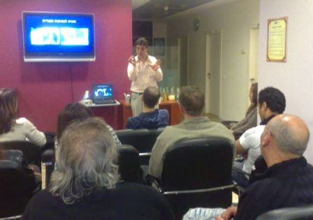 יורם בניטה מחברת הייר קליניק בהרצאה למעצבי שיער