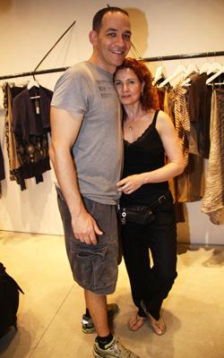 לימור גולדשטיין ובעלה. צילום: אסף לב.