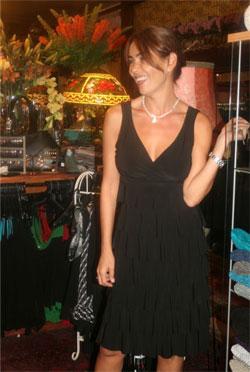 מיכל זוארץ בשמלה של פרנק ליימן