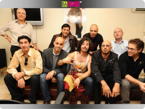 מעצב השיער רודי מוסטרדה ביקר בישראל - יחד עם קבוצת מעצבי השיער הישראליים.
